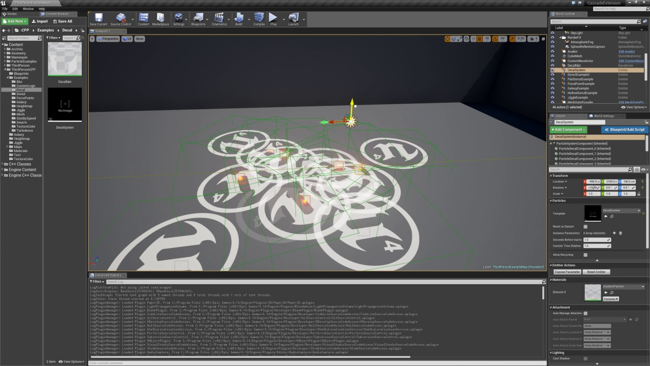 Decal Particles Demo Unreal Engine  YouTube - Decal graphics software