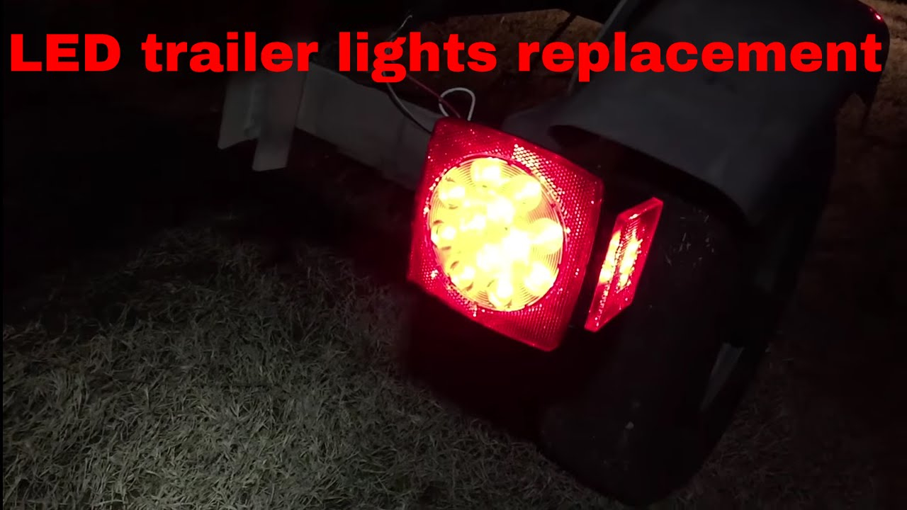 Installing Led Brake Lights To A Old Trailer Oow Outdoors Youtube Wiring
