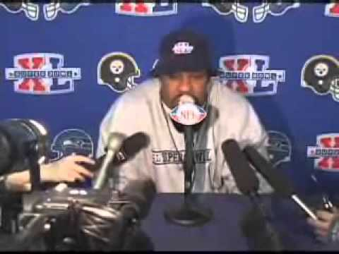 Joey Porter goes off before Super Bowl XL