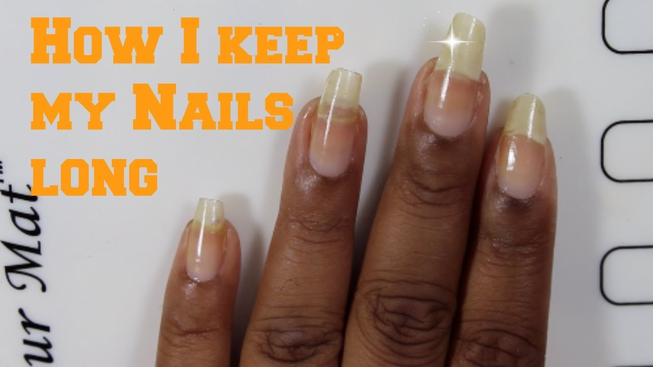 How I Retain The Length Of My Nails - YouTube