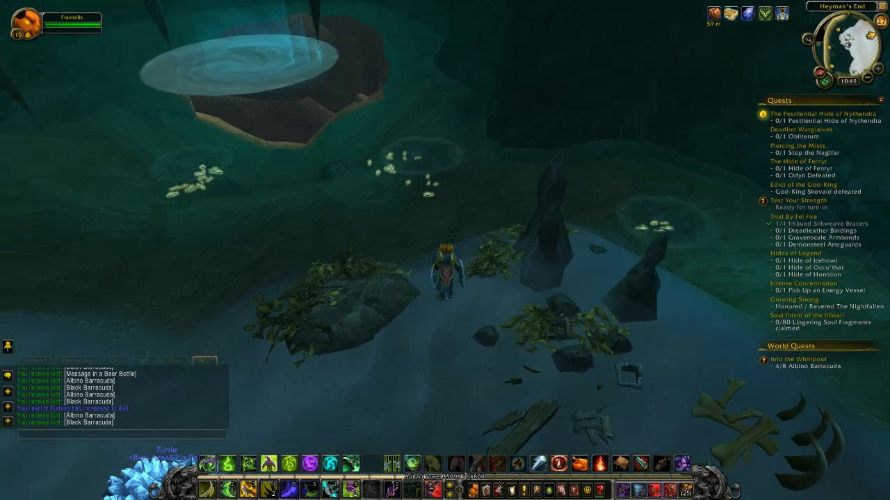World of warcraft into the whirlpool fishing cave fishing for Wow fishing guide