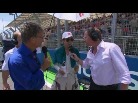 Kamui Kobayashi interview before the race - European GP 2010
