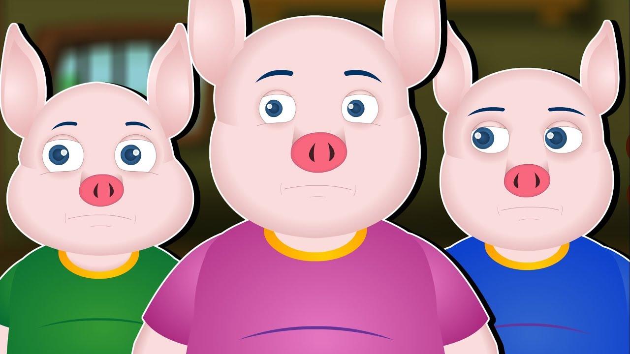 Download HADITHI ZA KISWAHILI | 3 Little Pigs Story Swahili | Kiswahili Fairy Tales | NGURUWE WATATU WADOGO