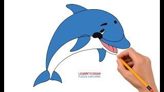 How to Draw a Cartoon Dolphin Easy Step by Step
