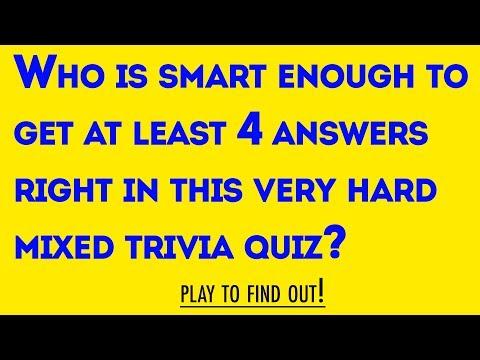 Mixed Trivia Quiz - 10 Questions