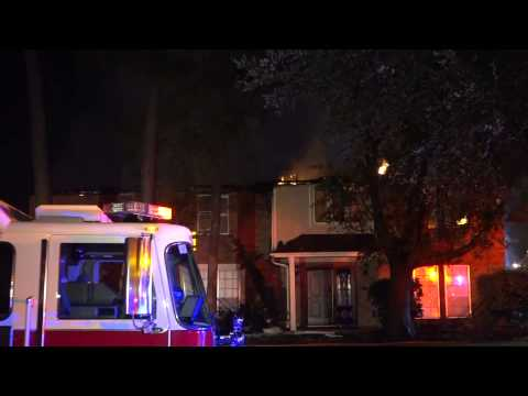 Raw video: 2-alarm house fire in Texas