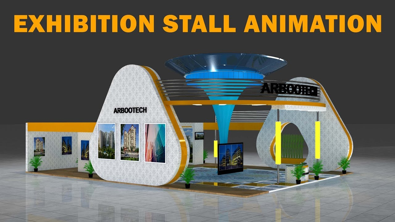 Exhibition Stand Design 3d Max : Ds max exhibition stall d animation design in ds max with