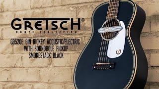 Gretsch G9520E Gin Rickey Acoustic/Electric in Smokestack Black