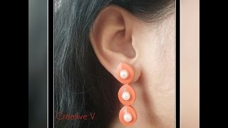 Quilling Stud Earrings Tutorial / Design 4