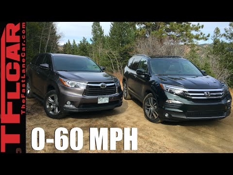 2016 Honda Pilot vs Toyota Highlander 0-60 MPH Test: By The Numbers