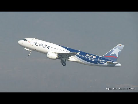 LAN Colombia Airbus A320-214 (CC-BAW) take off from SCEL airport