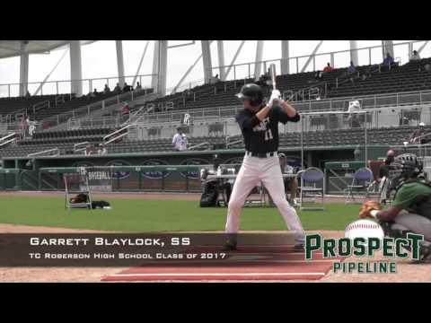Garrett Blaylock Prospect Video, SS, TC Roberson High School Class of 2017
