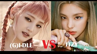Download (Updated Version)  ITZY VS (G)I-DLE ranking in different categories 2020