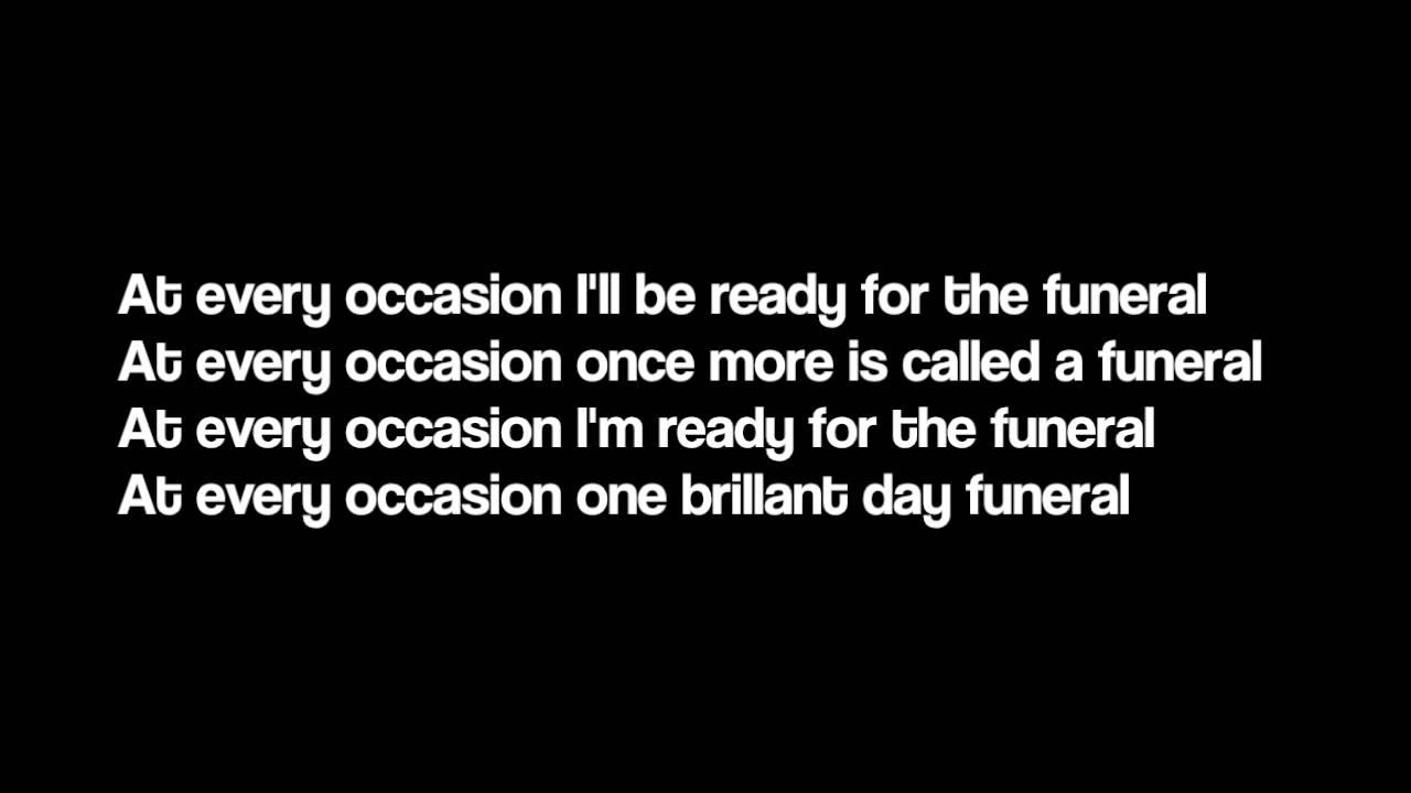 The Funeral   Band Of Horses Lyrics