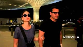 Kareena And Saif Make a Splash At The Airport!