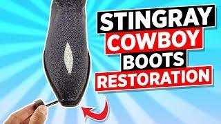 Stingray Boots Restoration Fixed  Back To New!