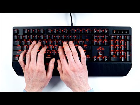 ASMR Mechanical keyboard (click! clack!)