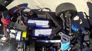 LOSI 5IVE-T Brushless MGM Compro 6S Lipo Test - Skylipo Thunderpower Nano-Tech
