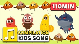 POO POO COMPILATION | 110MIN | LARVA KIDS | SUPER BEST SONGS FOR KIDS
