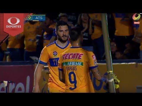 Gol de Gignac  | Tigres 2 - 0 Atlas | Clausura 2018 - Jornada 8 | Televisa Deportes