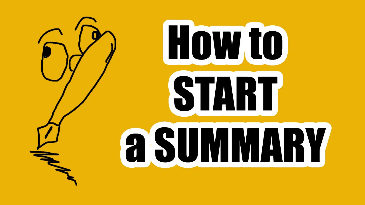 how to begin a summary of an article