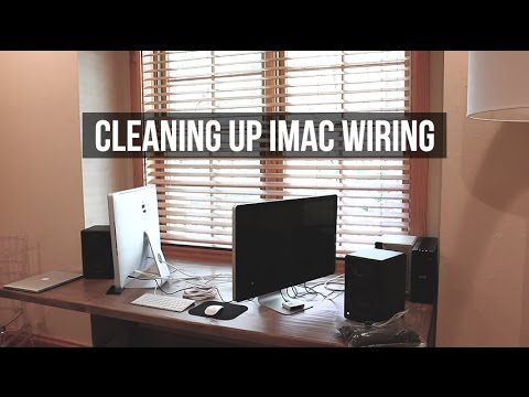 Cleaning Up the Wiring for My iMac Editing Station