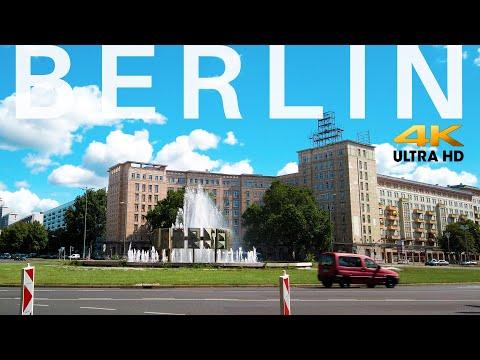 Berlin Cycling Mitte to Friedrichshain [4K] Binaural Sounds 2020 🇩🇪 Brandenburger Tor,Alexanderplatz