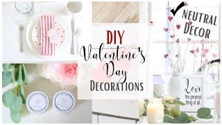 DIY Valentine's day Decor ~ Dollar Tree Decor ~ Valentine's Day Mantel ~ Valentines Day Tablescapes