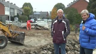 Reparatie na waterleidingbreuk Kerkweg Wezep