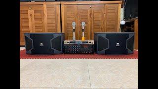 Dàn Karaoke gia đình giá rẻ - Loa JBL KS 310 -Amply PA 203N - MIcro ko dây BS 9999🔹Giá 4tr2