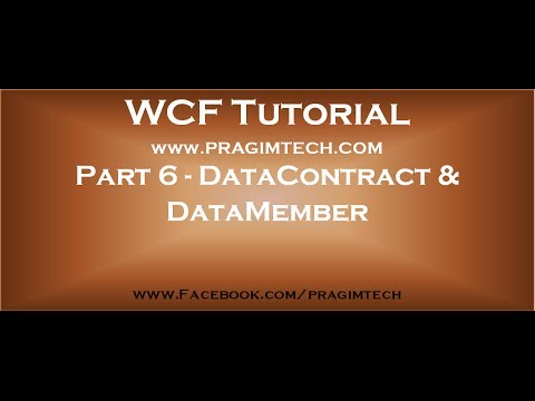Part 6   WCF DataContract and DataMember