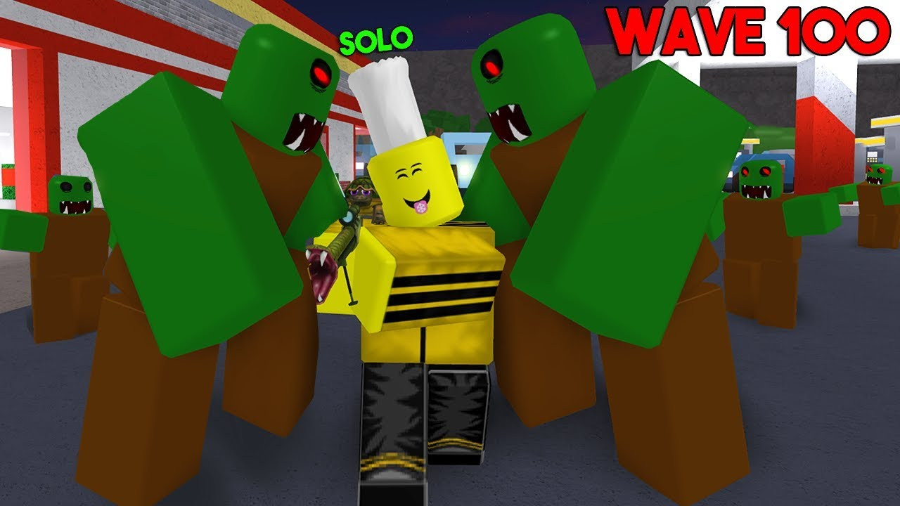 Fighting Thousands Of Zombies Solo Roblox Zombie Attack Youtube