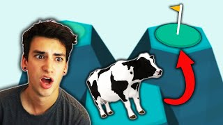 GOLFING A COW?! (What The Golf)