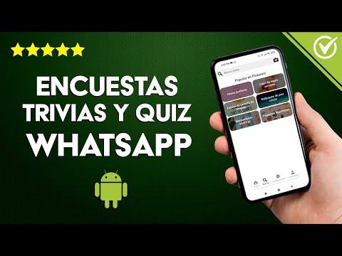 Cuestionarios, Encuestas, Preguntas, Trivias y Quiz para WhatsApp