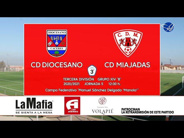 CD Diocesano - CD Miajadas (Tercera División Gr.14 'B' 20/21)