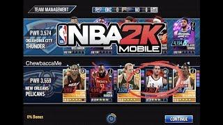 New Ruby Starter! NBA 2K Mobile #28  - Gauntlet full game 6! 3559 team power