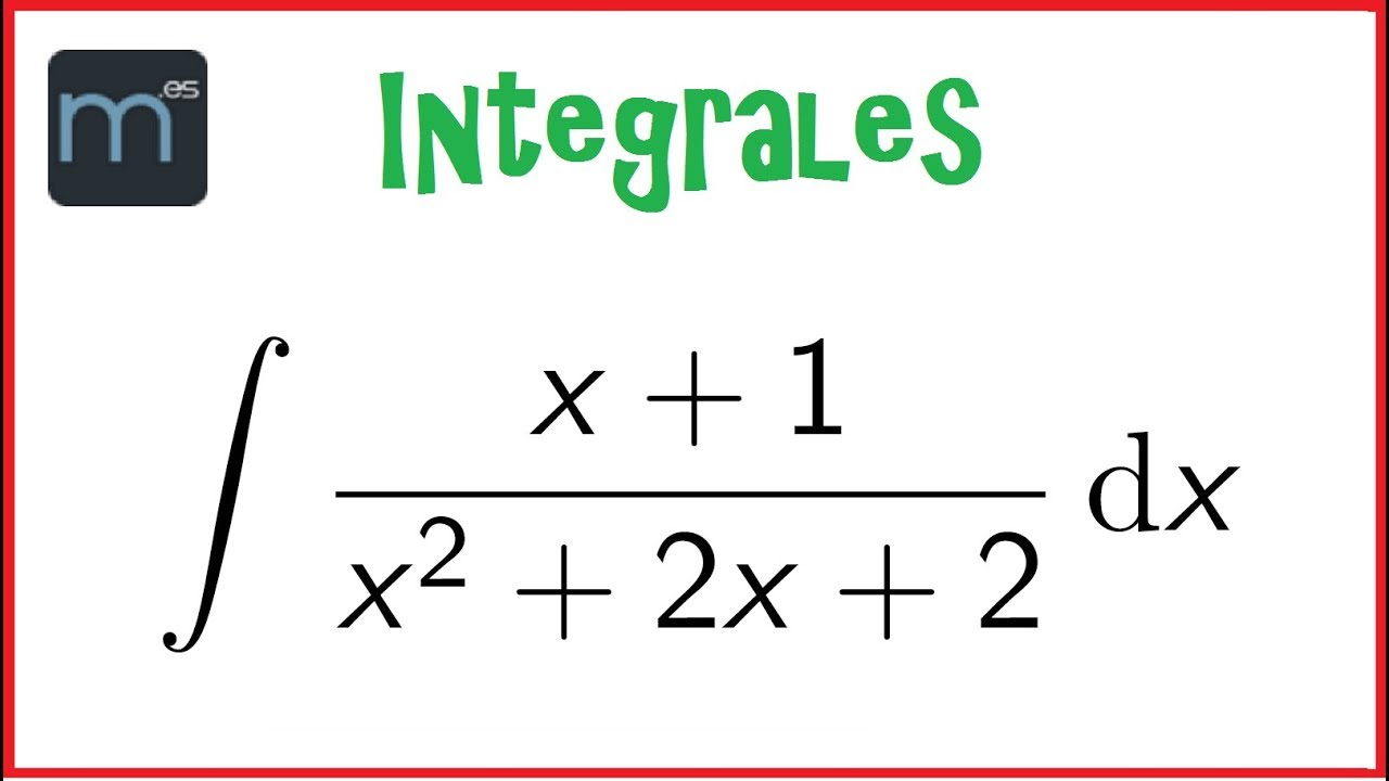 Integral De Un Cociente Tipo Logaritmo