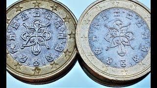 1 euro Portugal 2004 2005 2016 Mintage coin Video Portekiz Portogallo