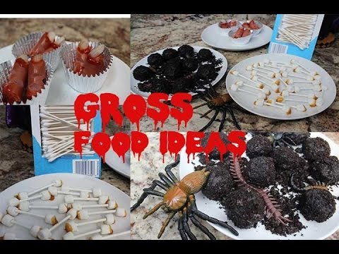 DIY Gross Halloween Food! (Quick & Easy)