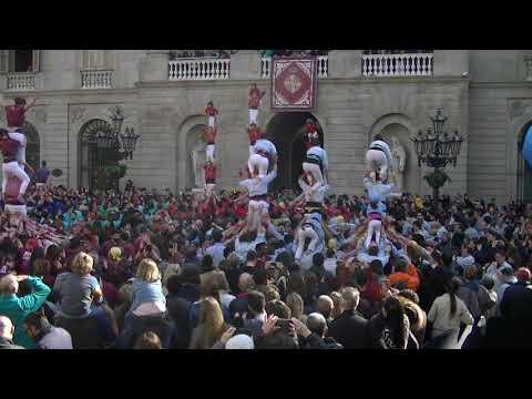 Castellers de Barcelona: Vano de 5 descarregat Santa Eulàlia 2020