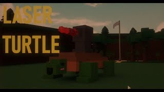 🐢How to make a Cute LASER TURTLE Mech!🐢| Roblox Build a Boat