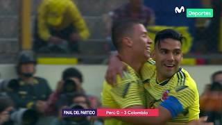 per vs colombia 0 3 resumen y goles del partido amistoso internacional
