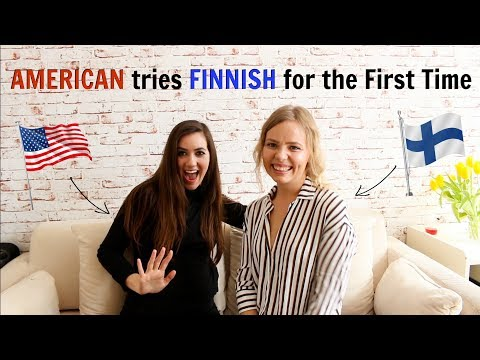 American Girl Speaking Finnish for the First Time | Kia Lindroos & Mackenzie Fly