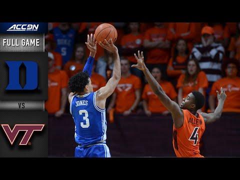 Duke Vs Virginia Tech Full Game 2019 20 Acc Men S Basketball Youtube