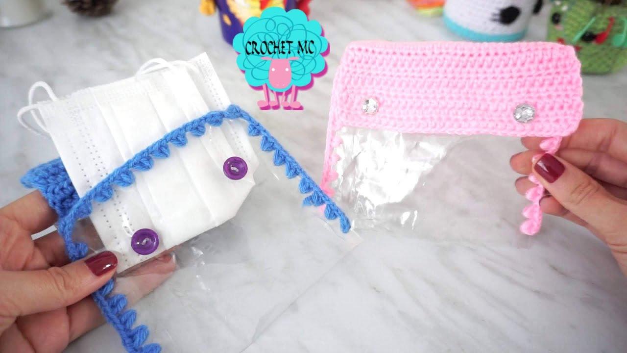 Estuche para tapabocas a crochet - proyecto de aprovechamiento