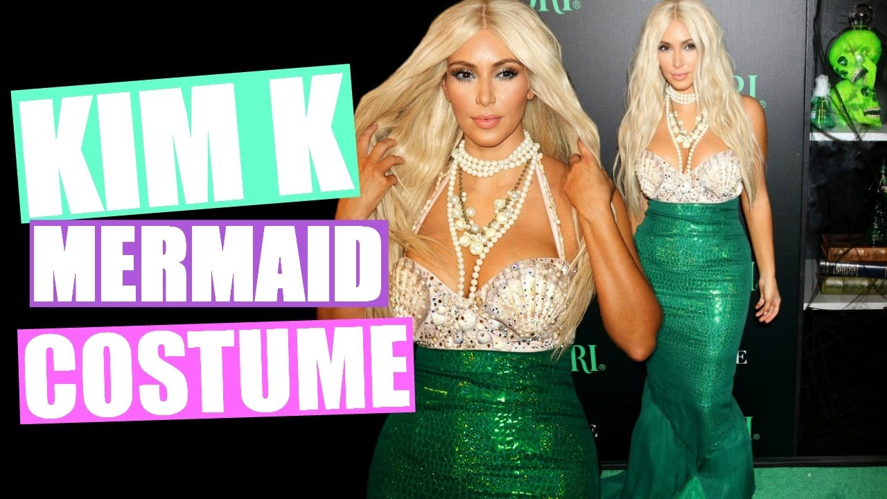 kim kardashian mermaid halloween costume diy halloween costume youtube