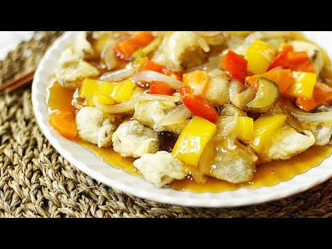 표고버섯탕수 만들기 | Fried sweet and sour shiitake mushrooms | Korean vegan food | 초간단 레시피