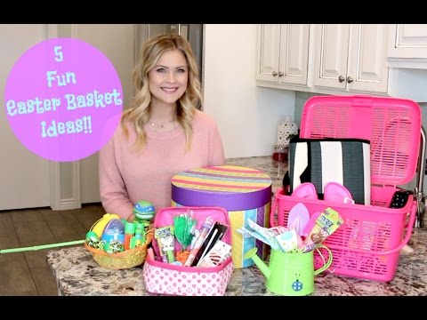 5 fun easter basket ideas youtube 5 fun easter basket ideas negle Images