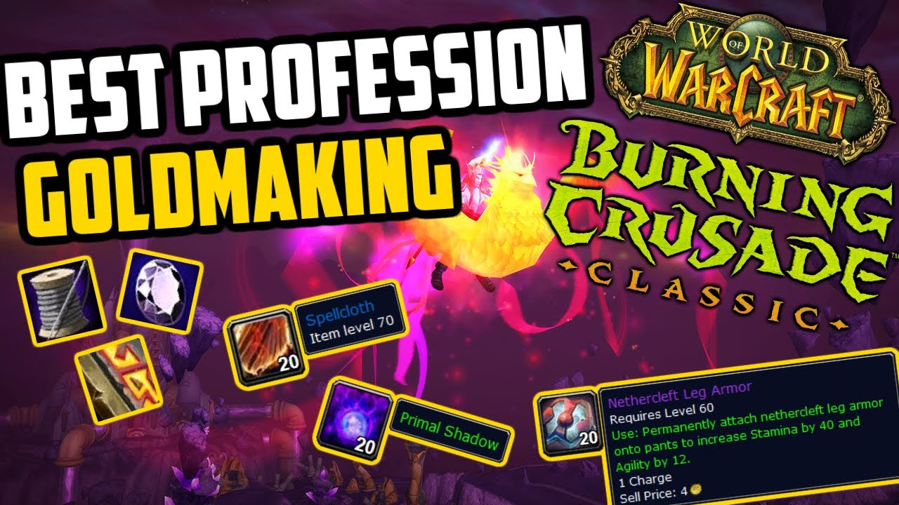The Best Professions for Goldmaking in TBC Classic