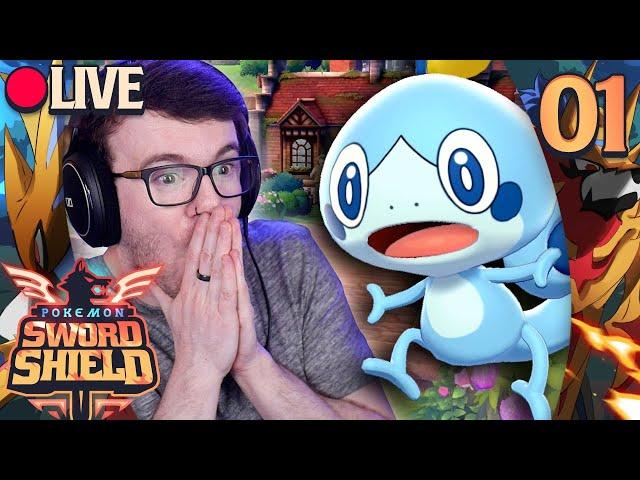 IT'S FINALLY HERE! • Let's Play Pokémon Sword & Shield LIVE! • 01